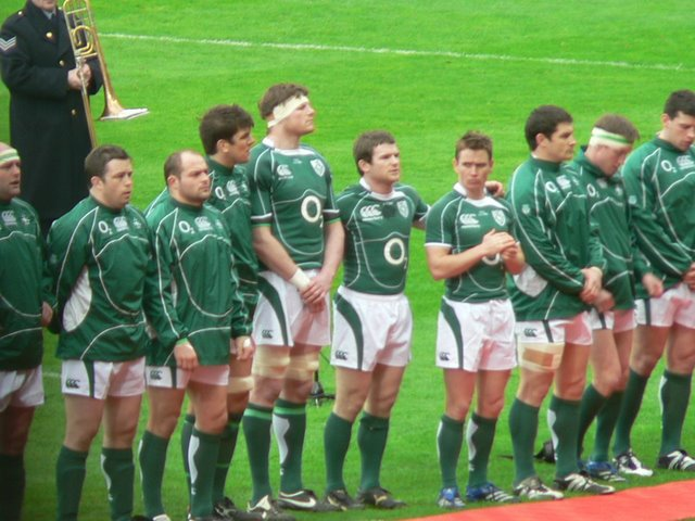 Lining up before match