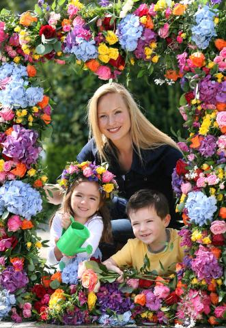 Garden Designer Leonie Cornelius launchesBloom 2013 with the help of Millie Kelly (4) and Allan O'Kearney (5). Bloom 2013 takes places in the Phoenix Park from Thursday May 30th to Monday June 3rd. The gardening, food and family festival attracted 80,000 visitors last year.