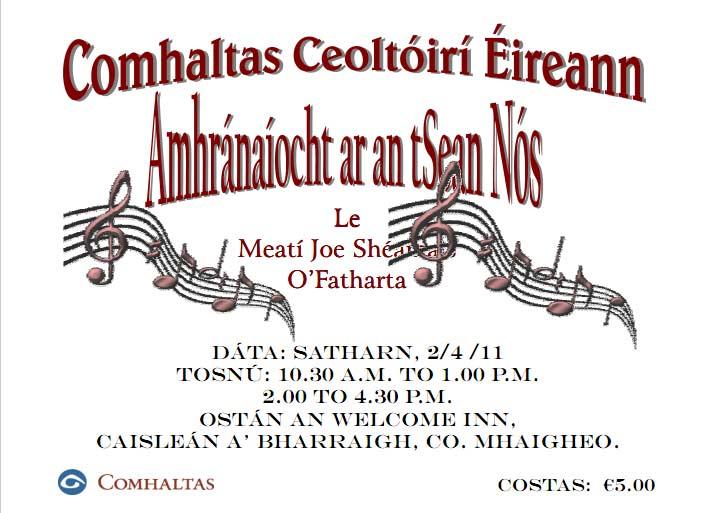 List of traditional Irish singers