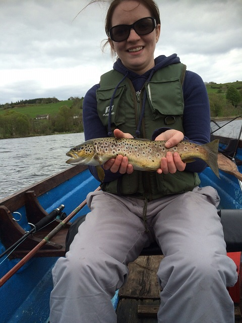 Cathrine_McGoldrick_with_her_first_2015_brown_trout_from_Lough_Arrow.JPG