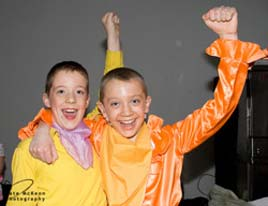 Kate McKeon has uploaded this photo of two Junior Chorus Boys, Castlebar Panto, Puss In Boots, 2009, to the photo gallery.