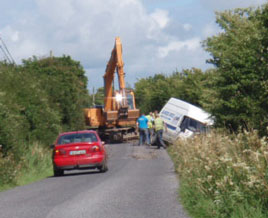 An incident observed on a rural road in Roscommon. Click photo for more.