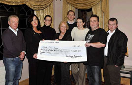 Castlebar Community Festival Committee members present a cheque to Angela Kirrane, Mayo Cancer Support Association Rock Rose House. Click for more details of Festival Proceeds. 