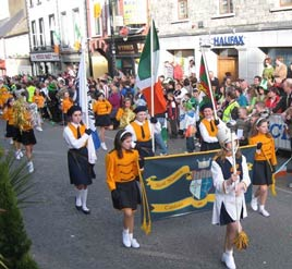St. Angelas at the Parade - Jack Loftus has two sets of photos taken from the review stand at the Castlebar St. Patrick's Day Parade. Click on photo for more.