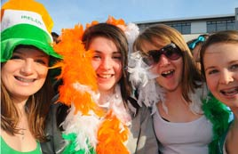 Happy faces from the 2009 parade - photos from a bright and sunny St. Patrick's Day Parade in Castlebar. Click on photo for more from by Alison Laredo.