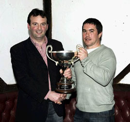 John Noonan was top scorer of the year as Ballyglass F.C. honoured its senior stars for the 2008 season. Click photo for more awards photos from Ken Wright.