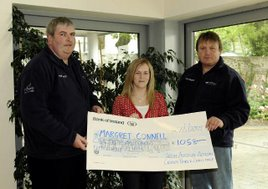 Margaret Connell climbed the Reek in the recent challenge. Ken Wright photographed a number of Seven Day Challenge 2009 cheque presentations in aid of Autism Ireland. Click photo for more.