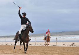 On the beach - horse racing at Geesala - Click on photo for an exuberant gallery of photos from Alison Laredo.