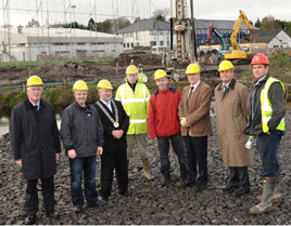 Viewing the progress so far on the new link road, between Lannagh Road and Newport Road - Click on photo for details from Tom Campbell.