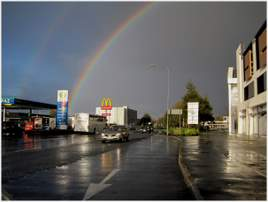 Noel O'Neill found the gold at the end of the rainbow in Castlebar. Click on photo for more.