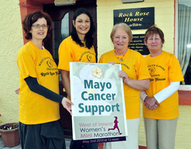 Get on your running shoes for the West of Ireland Women's Mini-Marathon in aid of Mayo Cancer Support Association. Click on photo for details of this worthy event.