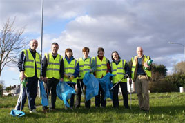 Taking part in the recent Castlebar Spring Clean. Click on photo for more from Noel Byrne.