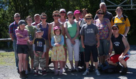 Participants in the Straide Loop Walk last Sunday. Click on photo for details of this new walk along the Moy River.