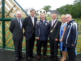 The new mini-pitch or multiple use games arena was opened officially at Lough  Lannagh last Wednesday. Click on photo for details.