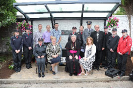 Photographed at the recent dedication of a memorial to Capt. John Cunningham of the Order of Malta. Click on photo for more details.