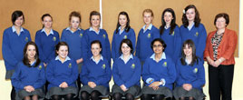 St. Joseph's Girls Secondary School, Castlebar, celebrates its high achievers in the Junior Certificate. Click on photo for more from Tom Campbell.