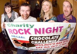 Karen Conway is promoting a record attempt in aid of CARI - Rock Night and Chocolate Challenge. Click on photo for more about this fun night in aid of a very good cause.