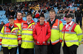 Castlebar Order of Malta members at the Parke v Eslin match last Sunday. Click on photo for details from Donal Geraghty.