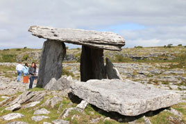 Some old stones from County Clare - Poulnabrone Dolmen. Click on photo for more from our West of Ireland gallery.