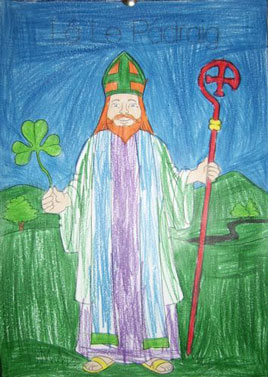 St Patrick himself - check out Seachtain na Gaeilge activities at Scoil Raifteirí.