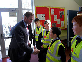 An Taoiseach, Enda Kenny, was special guest of honour at St. Patrick's BNS yesterday when their 4th Green Flag was raised.