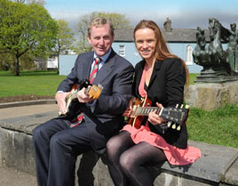 An Taoiseach Enda Kenny with Grainne Duffy at the launch of the Castlebar Blues Festival and Beyond - June Bank Holiday. Click on photo for the full details.