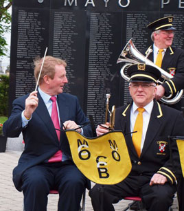 Enda Kenny attended the ceremony held at Mayo Peace Park last Sunday. Click on photo for a full gallery from Kevin McNally.