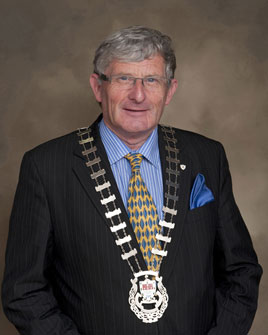 Austin O'Malley is the new Cathaoirleach of Mayo County Council. Click on photo for more from Tom Campbell.