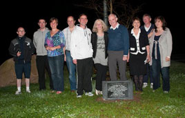 Commemorating the late Justice John Garavan at President's Night at Castlebar Tennis Club. Click on photo for more from Ken Wright.