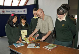 Always something interesting at Castlebar Library - PJ Lynch demonstrates at the Children's Book Festival. Click for more from Ken Wright.