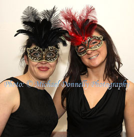 Michael Donnelly was at the Masked Ball at the Royal Theatre held in aid of the Irish Cancer Society. Click on photo to find out who is behind the mask!