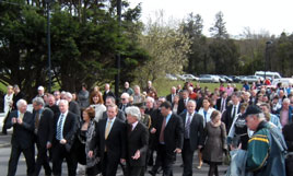 An Taoiseach, Mr Enda Kenny T.D., performed the official opening of Mayo Titanic Memorial Park yesterday. Click on photo for more from Brian Hoban.