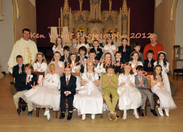 Ken Wright has a photo of the Scoil Raifteiri First Communion class 2012. Click on photo above for the details.