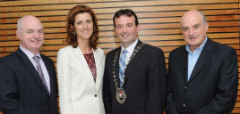 Newly elected Cathaoirleach M.C.C. is Cllr Cyril Burke. Click on photo for details from Tom Campbell.