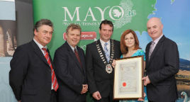 Mayo County Council hosted a Civic Reception to honour Ms Maureen Dowd. Click on photo for more from Tom Campbell.