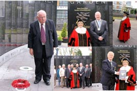 The Mayor of Doncaster laid a wreath at the Mayo Peace Park. Click on photo for more from Noel Byrne.