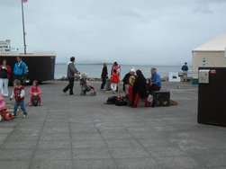 A replica of the Titanic is docked on the Galway Prom for the Arts Festival. Click on photo for details from Brian Hoban.