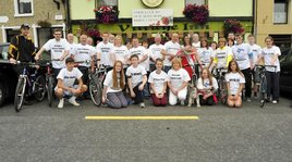 A rose from Mayo will be relayed to Tralee with a group of cyclists to be presented to the real Mayo Rose: Dervla Kenny. Click photo for more from Ken Wright.