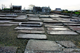 Photos from an unusual burial ground in County Clare. Click on photos to view.
