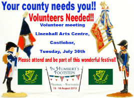 Volunteer Rebel Pikemen and Pikewomen (and others) wanted for Castlebar's Biggest Summer Festival. Click  for the details from Michael Baynes.