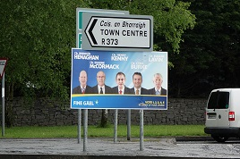 In the lead up to Friday's elections there are lots of posters up around the town. Click on photo to see if your favourite candidate is there.