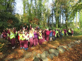 Breaffy NS takes an autumnal walk in the woods. Click on photo to view.