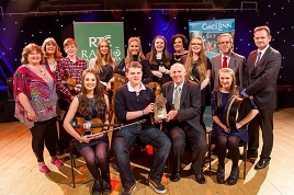 Glor Mhaigh Eo became the first Mayo winners of the 2015 Siansa Gael Linn Competition. Click on photo for details from Cathy Kilkenny.
