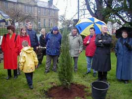 Planting the Millennium Tree at the end of the Jubilee Year