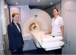 New MRI scanning service at Mayo General Hospital.