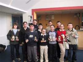 Prizewinners at the Mayo Close Badminton Competition 2003