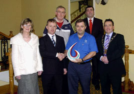 Vodafone Passion for the World around Us Award to Noel Gibbons. Glick photo for details from Ken Wright.