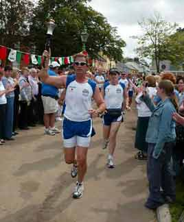 The Olympic Flame arrives in Castlebar