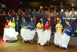 Venezuelan dancers at the Welcome Inn reception - click for more photos from Michael Donnelly