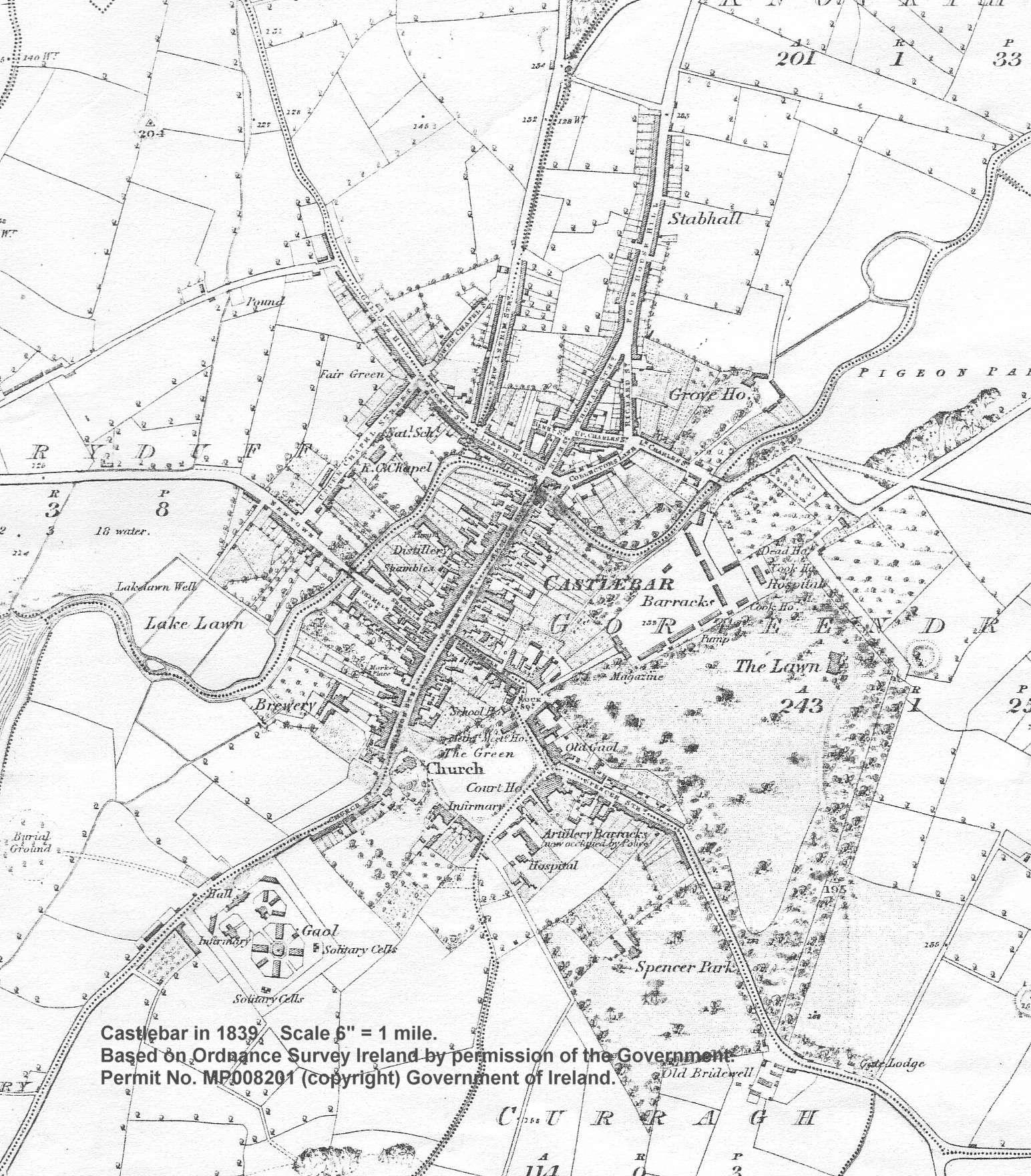 Castlebar in 1839